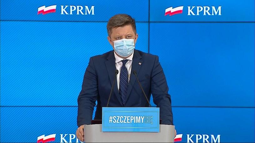 Szef KPRM Michał Dworczyk /Polsat News
