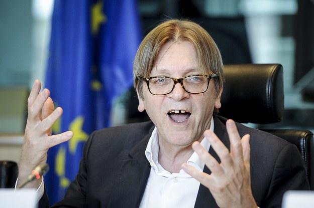 Szef liberałów Guy Verhofstadt /Wiktor Dabkowski    /PAP/EPA