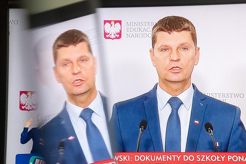 Szef MEN Dariusz Piontkowski /Wojciech Stróżyk /Reporter