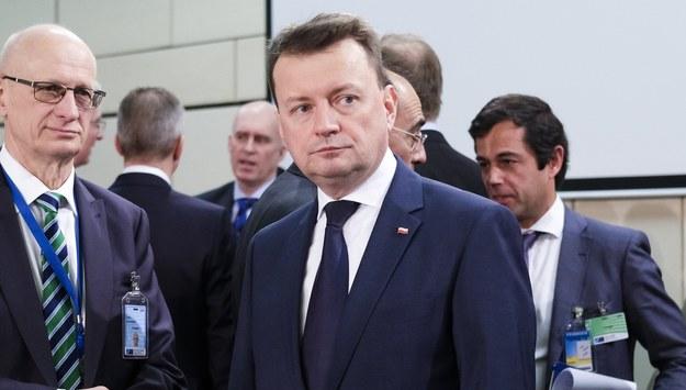 Szef MON Mariusz Błaszczak /OLIVIER HOSLET /PAP/EPA