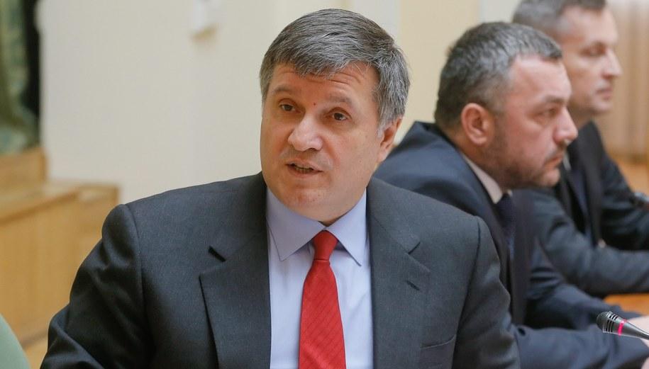 Szef MSW Ukrainy Arsen Awakow /SERGEY DOLZHENKO /PAP/EPA