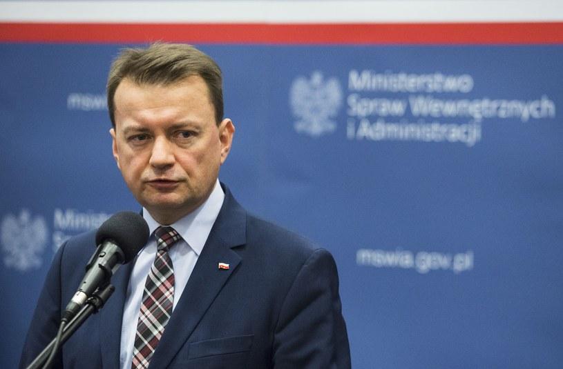 Szef MSWiA Mariusz Błaszczak /Andrzej Hulimka  /Reporter