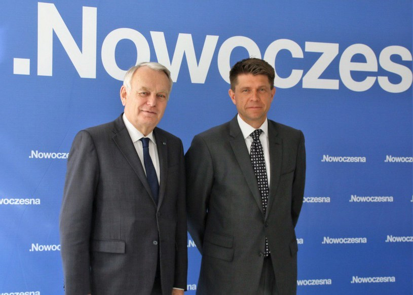 Szef MSZ Francji Jean-Marc Ayrault i Ryszard Petru, lider Nowoczesnej /Twitter