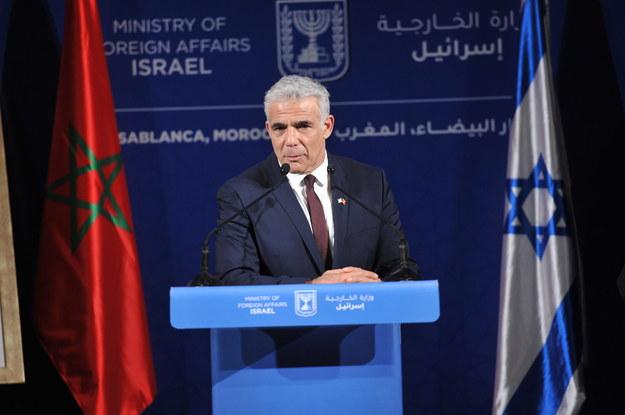 Szef MSZ Izraela Yair Lapid /Jalal Morchidi /PAP/EPA