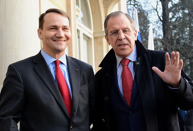 Szef MSZ Radosław Sikorski i szef MSZ Rosji Siergiej Ławrowa /AFP