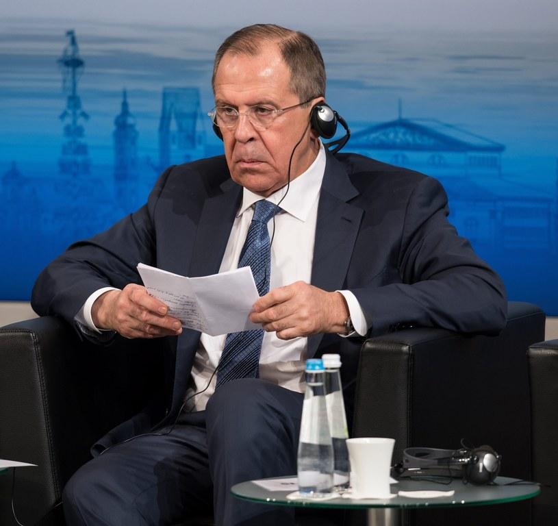 Szef MSZ Rosji przemawia w Monachium /EPA/SVEN HOPPE /PAP/EPA