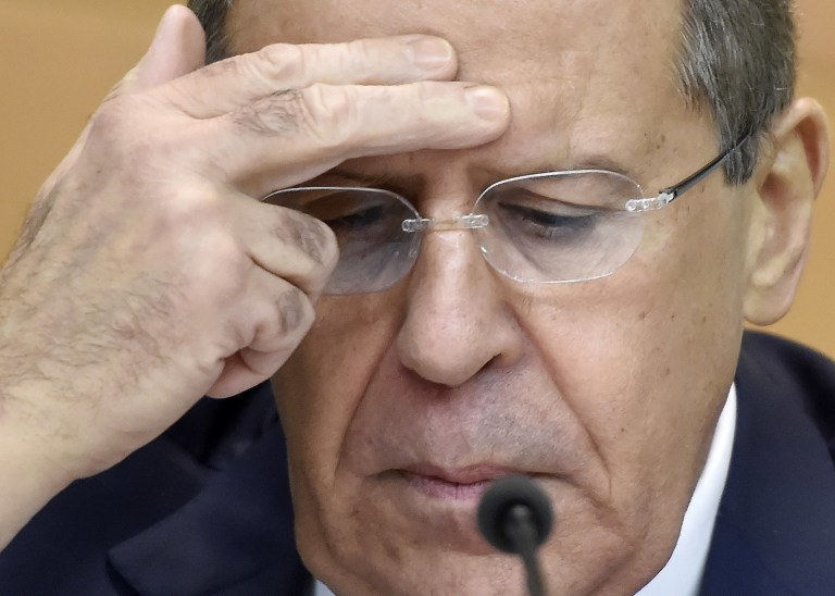 Szef MSZ Rosji Siergiej Ławrow /AFP