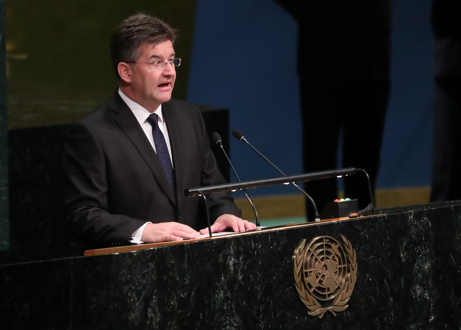 Szef MSZ Słowacji Miroslav Lajczak. /ANDREW GOMBERT /PAP/EPA
