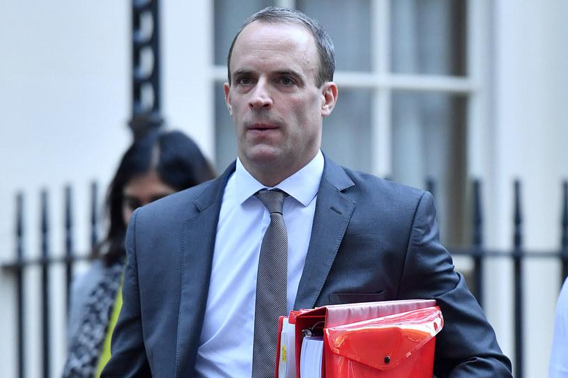 Szef MSZ Wielkiej Brytanii Dominic Raab /ADRIAN DENNIS /AFP