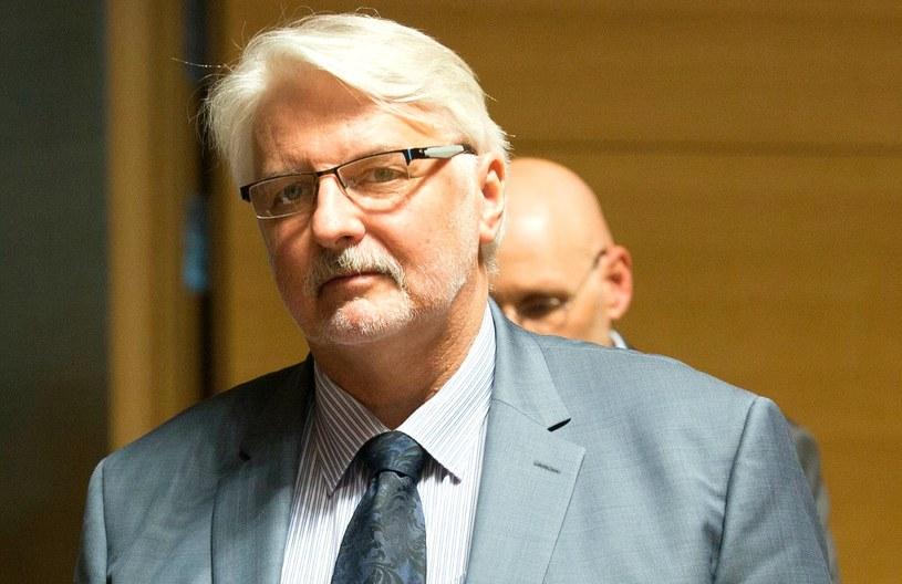 Szef MSZ Witold Waszczykowski /OLIVIER HOSLET /PAP/EPA