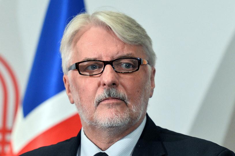 Szef MSZ Witold Waszczykowski /Łukasz Dejnarowicz /Agencja FORUM