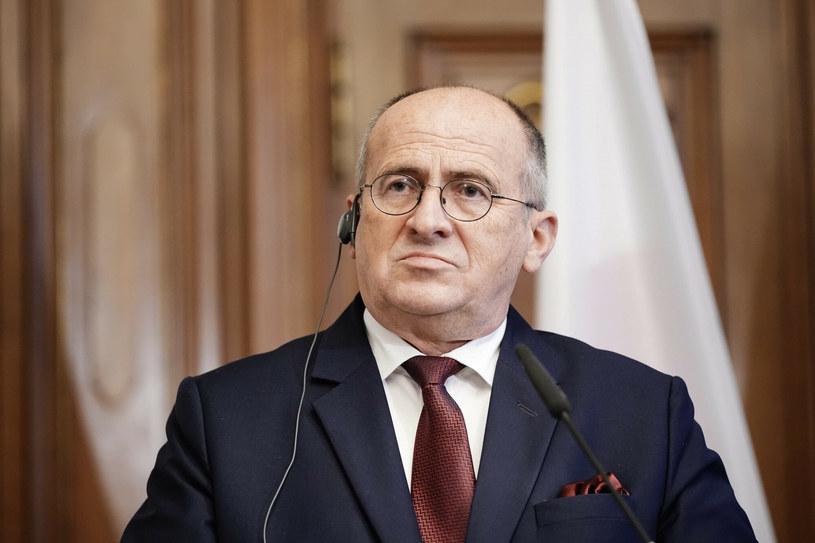 Szef MSZ Zbigniew Rau /MICHAEL KAPPELER/AFP /East News