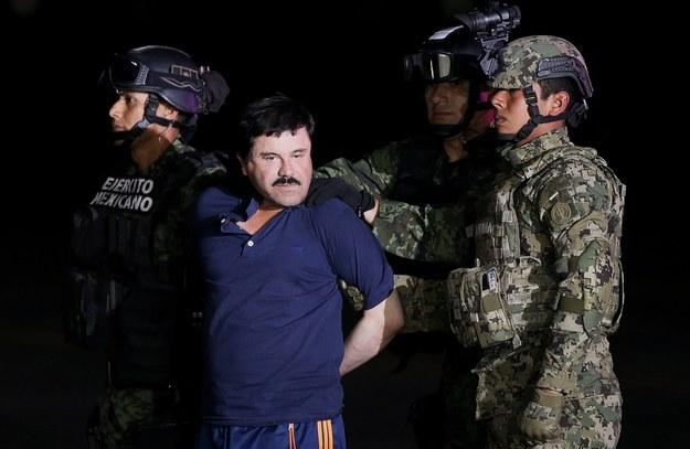 Szef narkotykowego kartelu Sinaloa został schwytany 8 stycznia 2016 r /PAP/EPA/JOSE MENDEZ /PAP/EPA