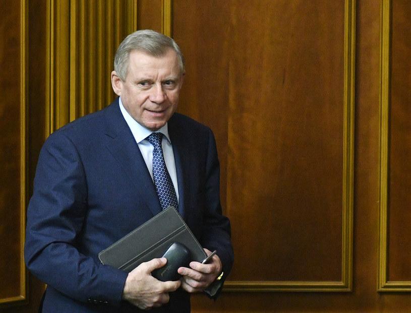 Szef Narodowego Banku Ukrainy Jakiw Smolij /GENYA SAVILOV / AFP /AFP