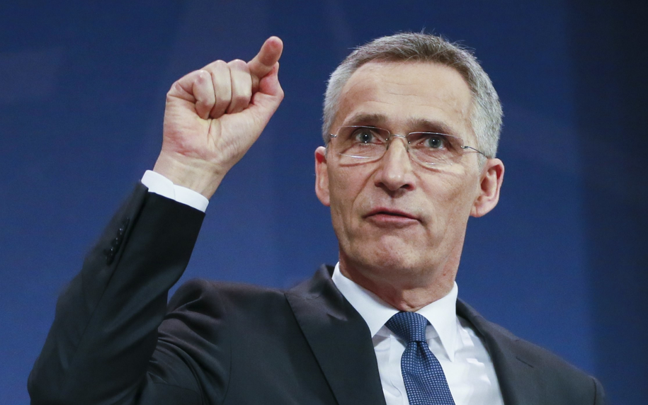 Szef NATO Jens Stoltenberg /OLIVIER HOSLET /PAP/EPA