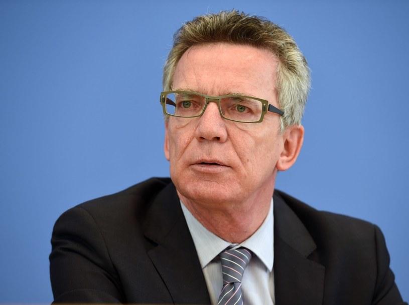 Szef niemieckiego MSW Thomas de Maiziere. /AFP