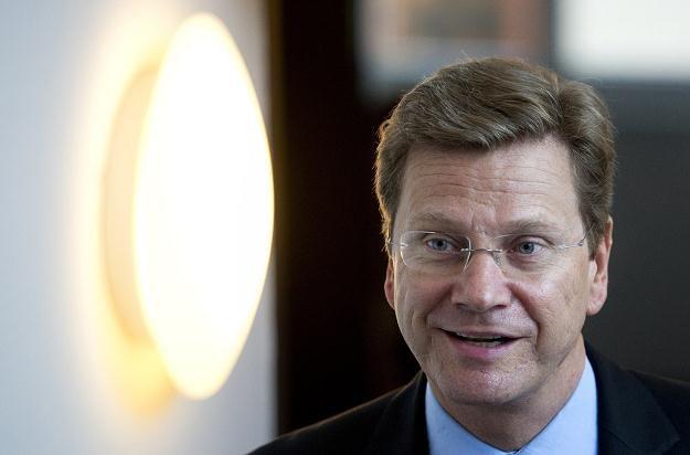 Szef niemieckiej dyplomacji Guido Westerwelle /AFP