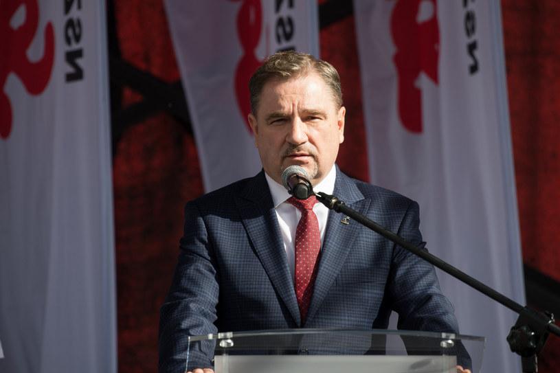 """Szef NSZZ """"Solidarność"""" Piotr Duda /Wojciech Strozyk/REPORTER /Reporter"""