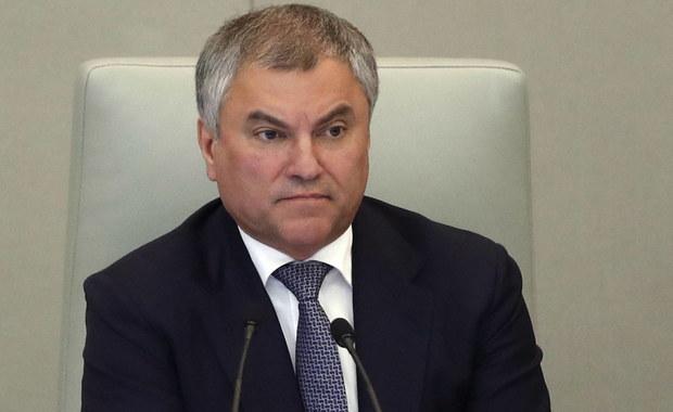 Szef parlamentu Rosji: Polska polityka sprawiła, że stało się to, co się stało
