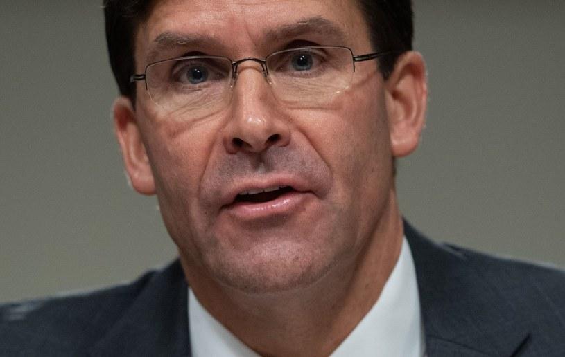 Szef Pentagonu Mark Esper /SAUL LOEB /AFP