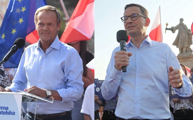 Szef PO Donald Tusk i premier Mateusz Morawiecki ruszyli w Polskę /Marcin Gadomski/Artur Reszko /PAP