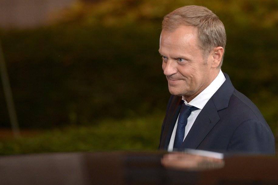 Szef PO Donald Tusk /Radek Pietruszka /PAP