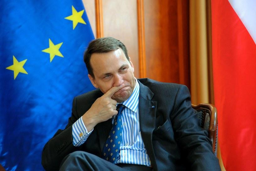 Szef polskiego MSZ Radosław Sikorski. /AFP