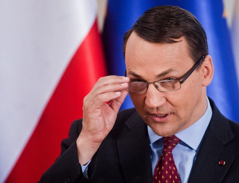 Szef polskiego MSZ Radosław Sikorski. /Adam Guz /Reporter