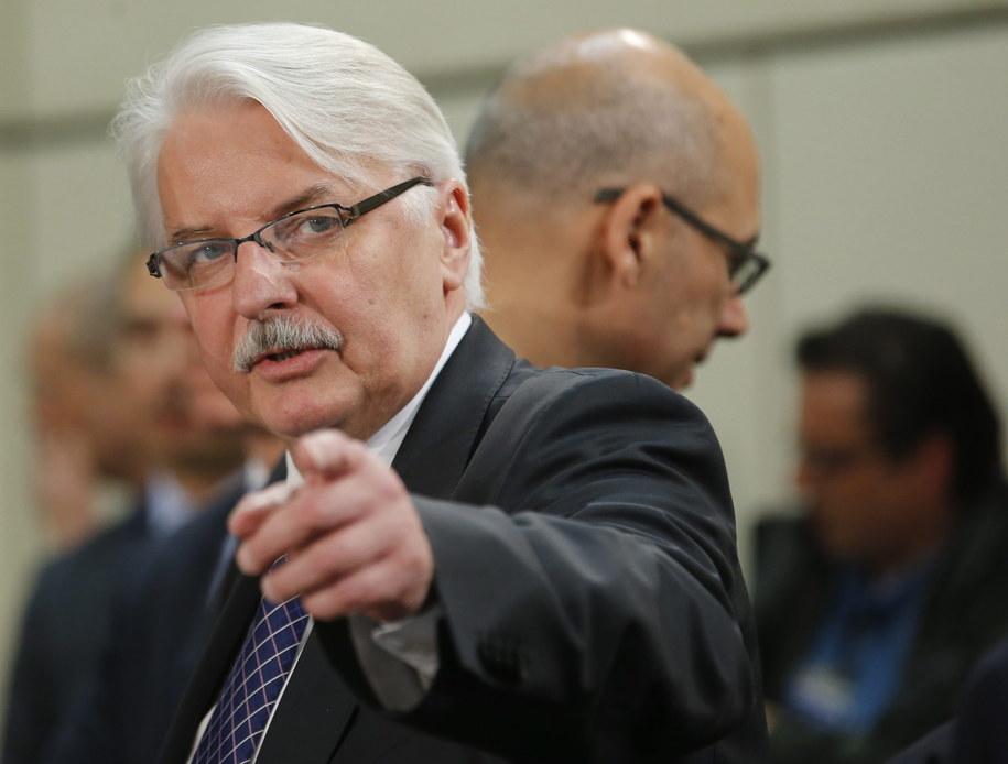 Szef polskiej dyplomacji Witold Waszczykowski /OLIVIER HOSLET /PAP/EPA