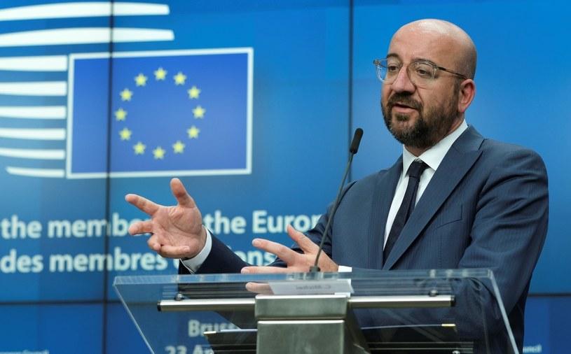 Szef Rady Europejskiej Charles Michel /OLIVIER HOSLET / EPA  /AFP