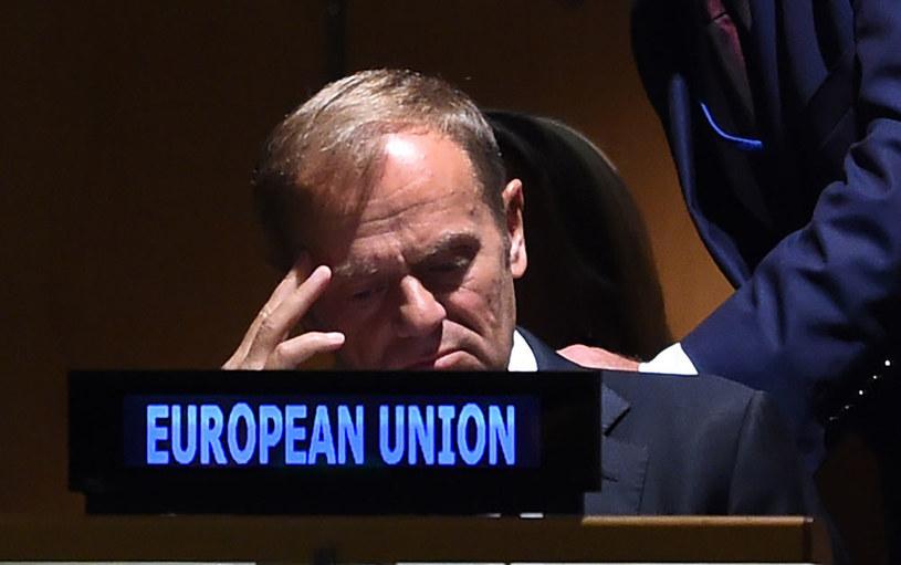 Szef Rady Europejskiej Donald Tusk z zadowoleniem przyjął brytyjską deklarację /AFP