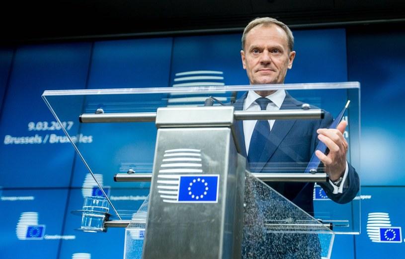Szef Rady Europejskiej Donald Tusk /STEPHANIE LECOCQ  /PAP/EPA