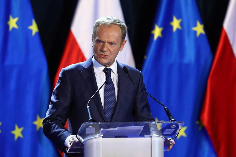 Szef Rady Europejskiej Donald Tusk /Rafał Guz /PAP
