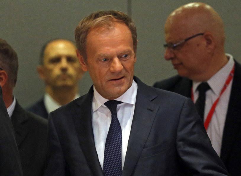 Szef Rady Europejskiej Donald Tusk /OLIVIER HOSLET /PAP/EPA