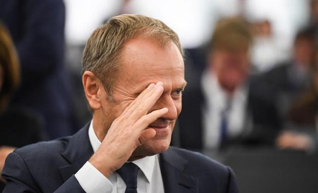 Szef Rady Europejskiej Donald Tusk /Patrick Seeger  /PAP/EPA