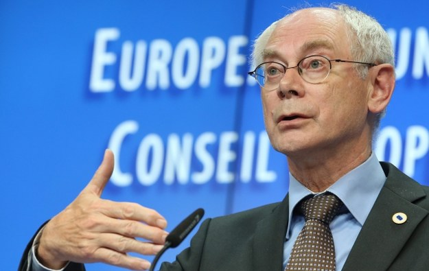 Szef Rady Europejskiej Herman Van Rompuy /OLIVIER HOSLET /PAP/EPA
