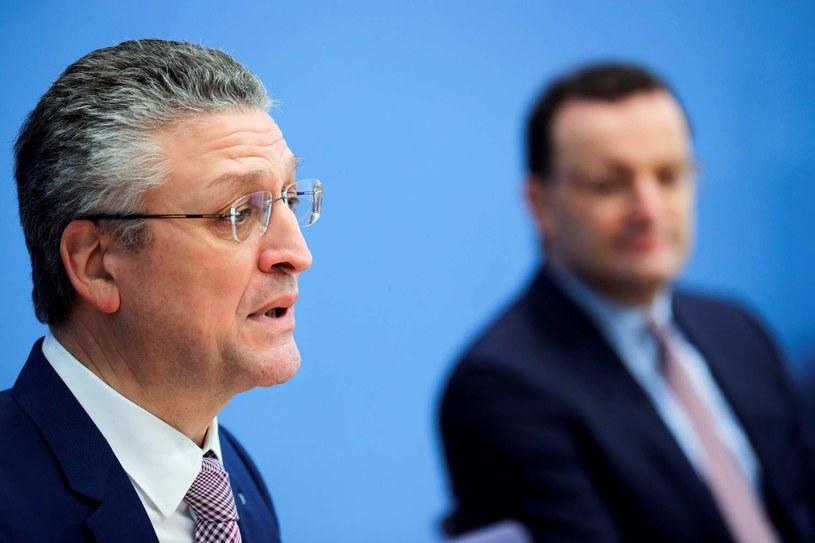 Szef RKI Lothar Wieler i niemiecki minister zdrowia Jens Spahn /HANNIBAL HANSCHKE /AFP