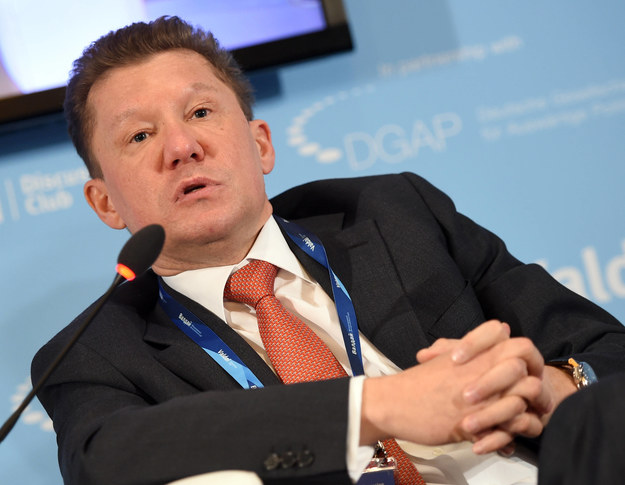 Szef rosyjskiego koncernu Gazprom Aleksiej Miller /Britta Pedersen  /PAP/DPA