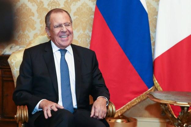 Szef rosyjskiej dyplomacji Siergiej Ławrow /Alexander Shcherbak /PAP/EPA