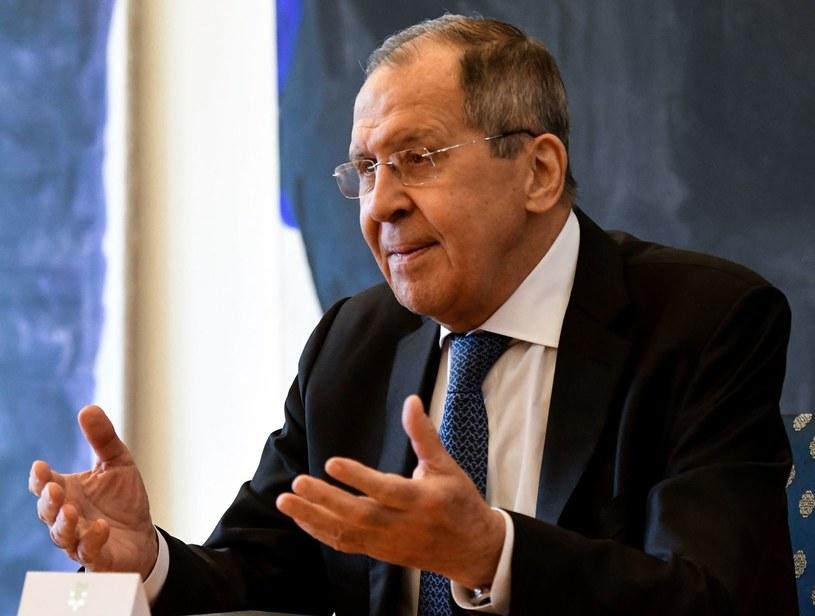 Szef rosyjskiej dyplomacji Siergiej Ławrow /Denis LOVROVIC /AFP
