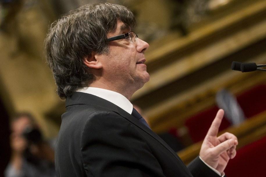Szef rządu Katalonii Carles Puigdemont /QUIQUE GARCIA/EFE /PAP/EPA