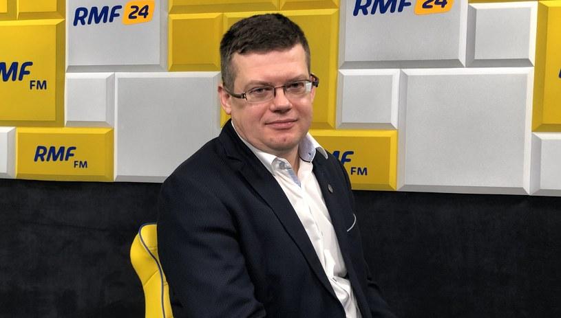 Szef stowarzyszenia Iustitia Krystian Markiewicz /Karolina Bereza /RMF FM