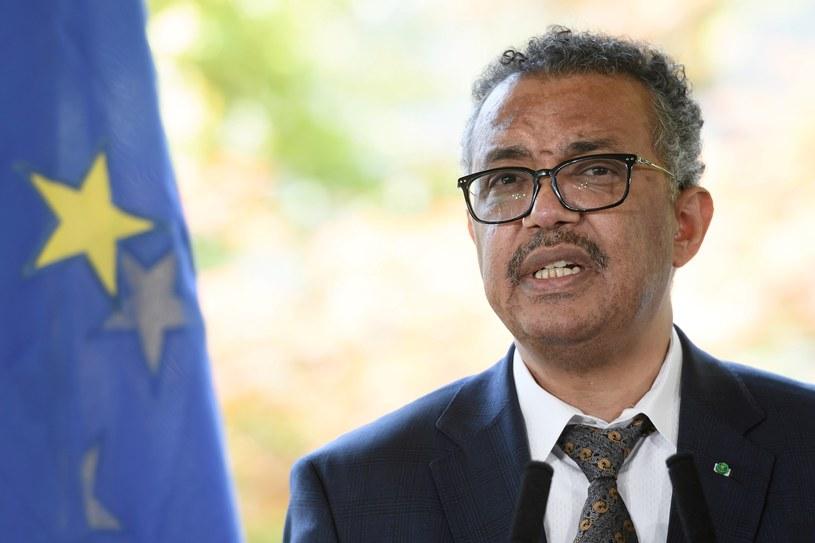 Szef Światowej Organizacji Zdrowia Tedros Adhanom Ghebreyesus /FABRICE COFFRINI / AFP /AFP