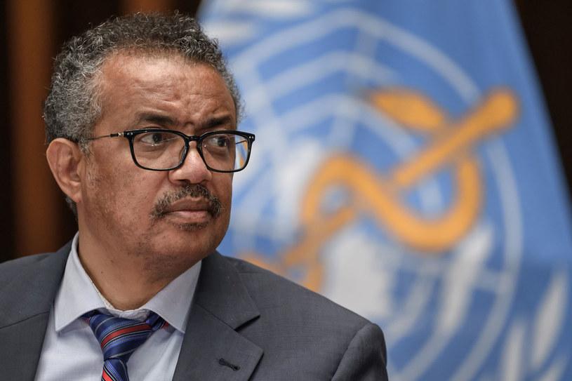Szef Światowej Organizacji Zdrowia (WHO) Tedros Adhanom Ghebreyesus /FABRICE COFFRINI /AFP