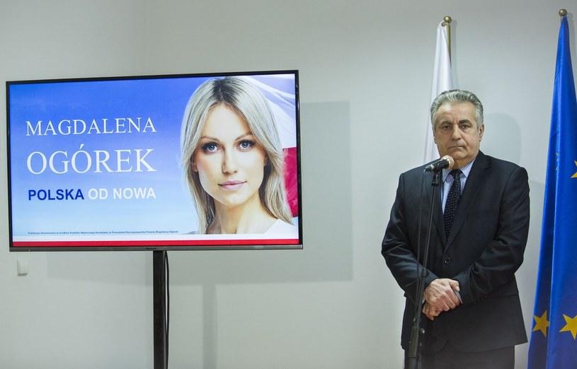 Szef sztabu wyborczego Magdaleny Ogorek Leszek Aleksandrzak /Andrzej Hulimka  /East News