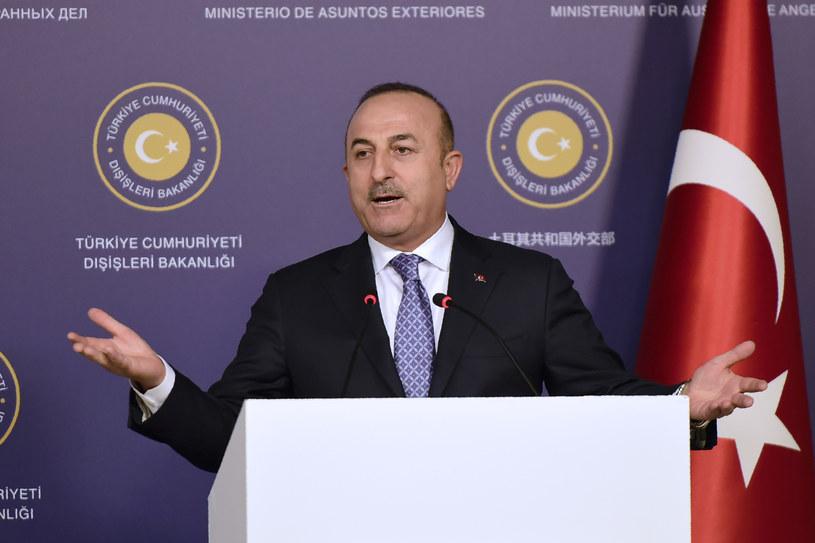 Szef tureckiej dyplomacji Mevlut Cavusoglu /YASIN AKGUL /AFP