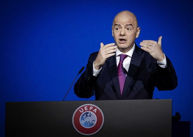 Szef UEFA Gianni Infantino /ROBIN VAN LONKHUIJSEN /PAP