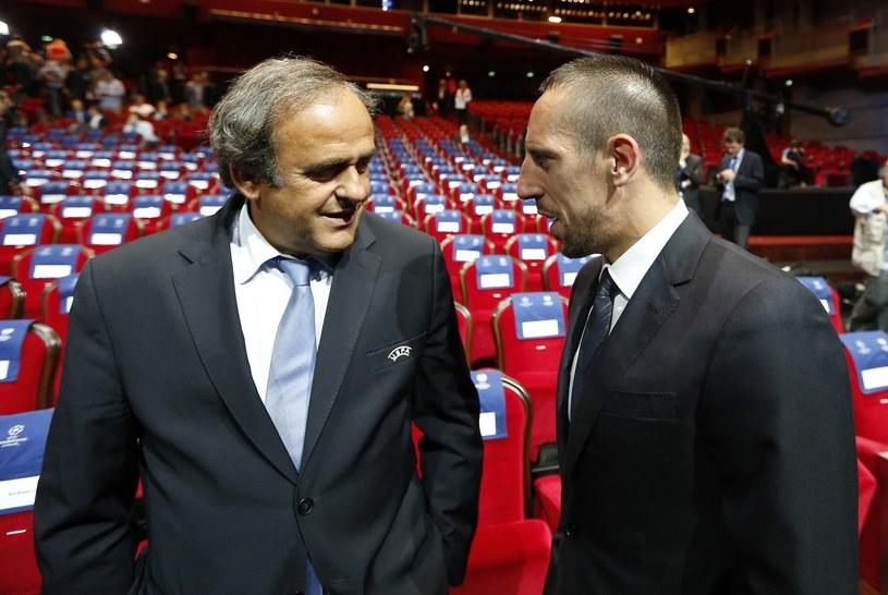 Szef UEFA Michel Platini nie może zrozumieć Francka Ribery'ego /AFP