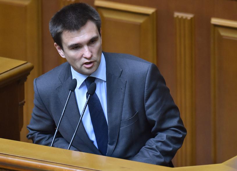 Szef ukraińskiego MSZ Pawło Klimkin /SERGEI SUPINSKY /AFP
