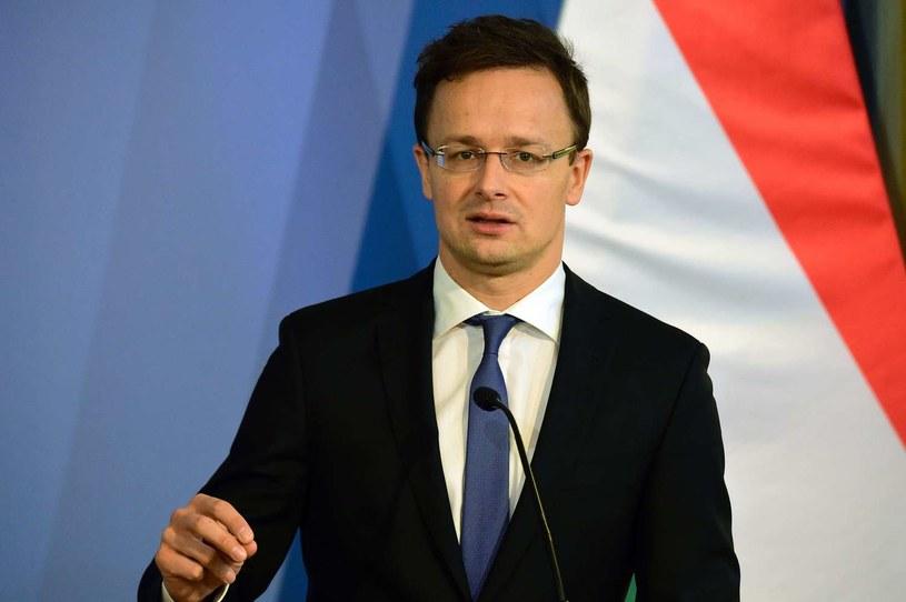 Szef węgierskiego MSZ Peter Szijjarto /AFP